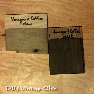 Solution for vinegar mixed with steel wool and coffee grounds
