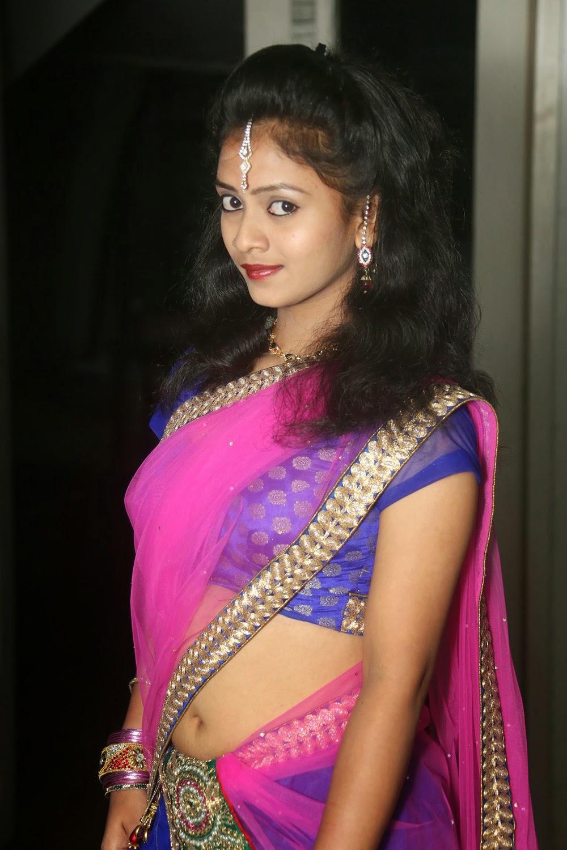 Young actress Jaya Harika in half saree-HQ-Photo-9