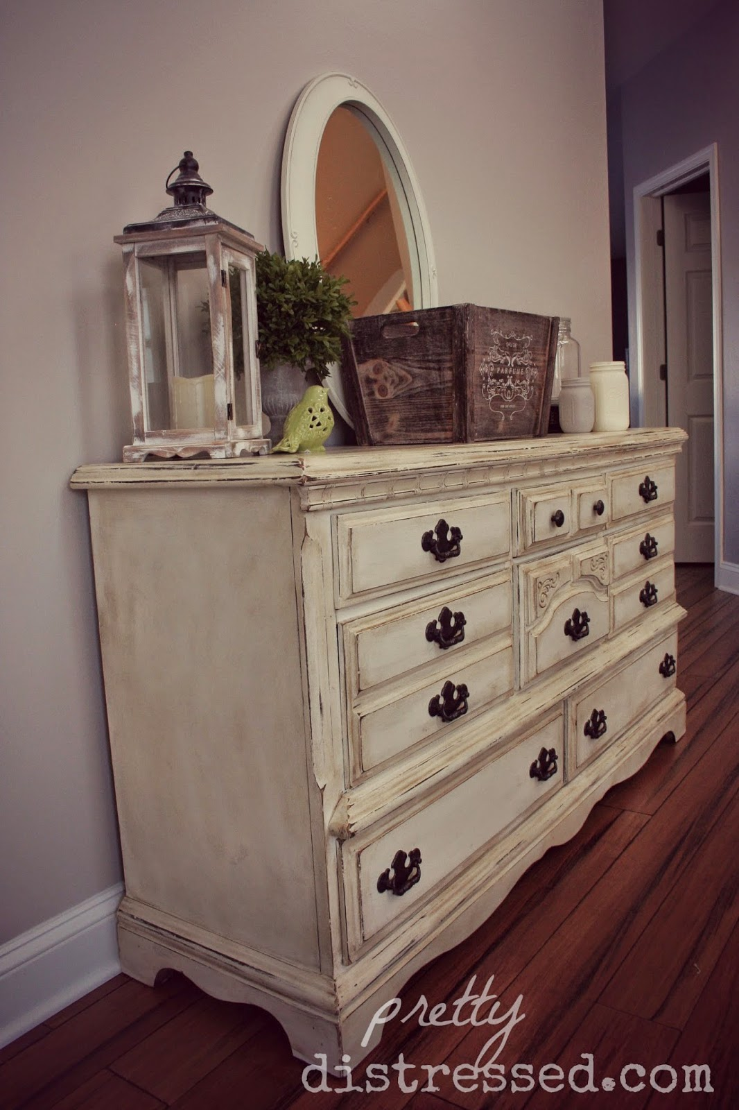 How To Distress White Chalk Painted Furniture
