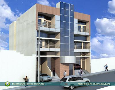 Projeto prédio comercial residencial