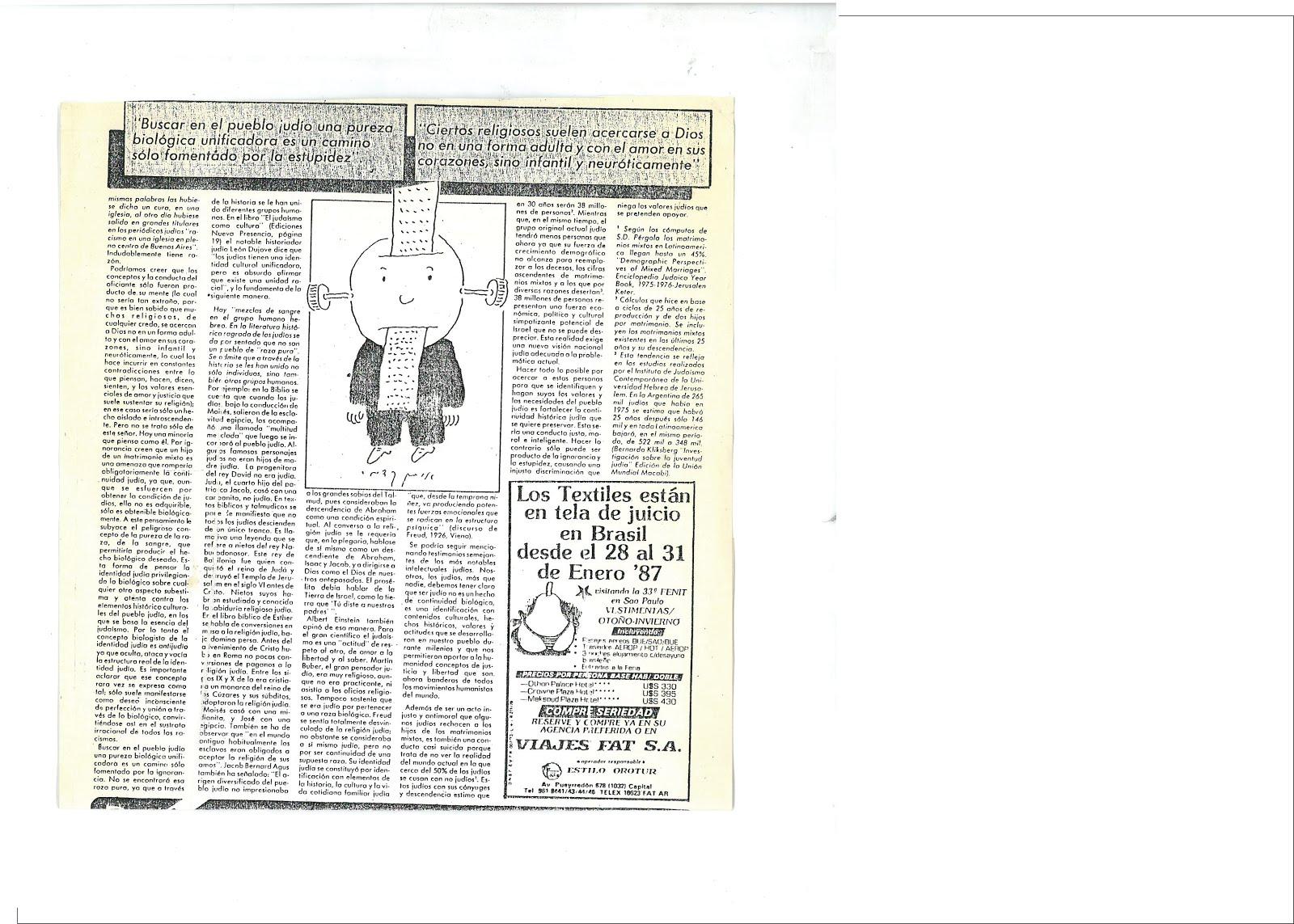 37b - Página 2 PUBLICADO EL 12/12/1986 POR EL PERIÓDICO JUDÍO ARGENTINO NUEVA PRESENCIA. ESTE HECHO