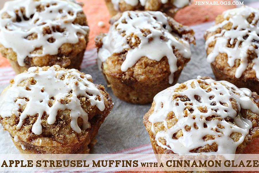 Jenna Blogs: Apple Streusel Muffins with a Cinnamon Glaze