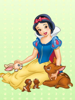 Snjeguljica i životinje crtani film download besplatne pozadine slike za mobitele