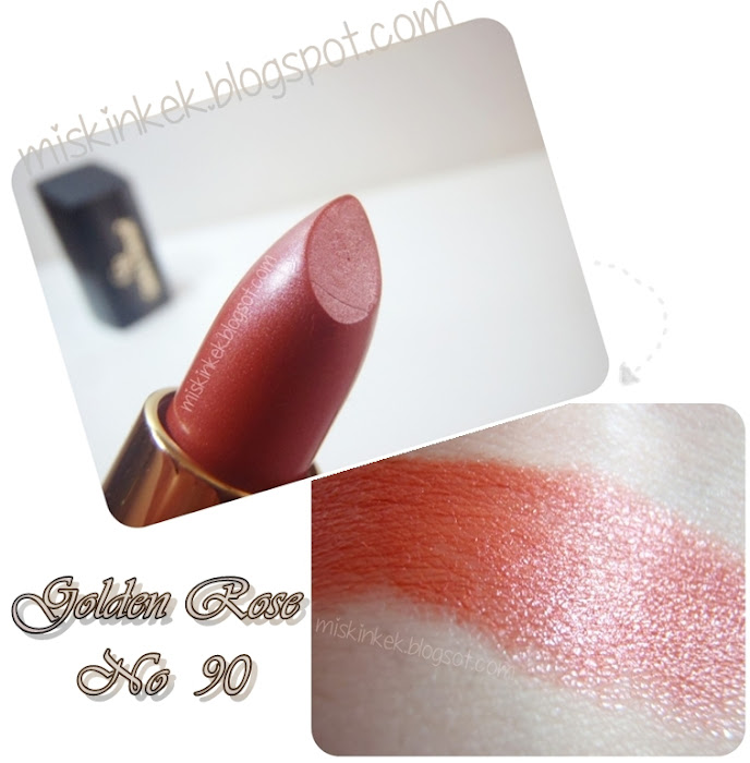 golden rose,ruj,golden rose 90,lipstick,swatch golden rose