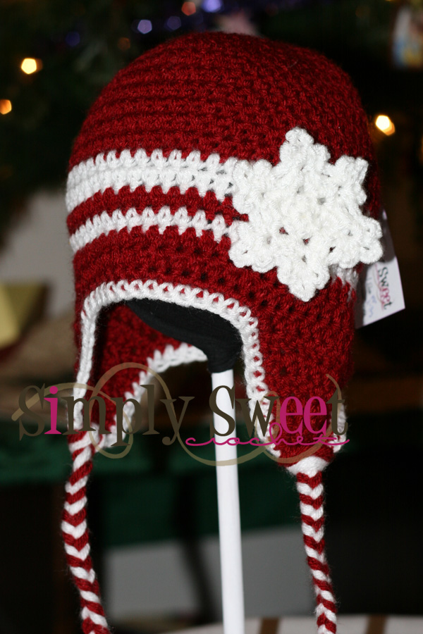 Snowflake Beanie With Earflaps