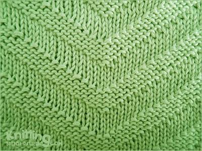 Yo Between Knit And Purl Stitch : V- Shape Knitting Stitch Patterns