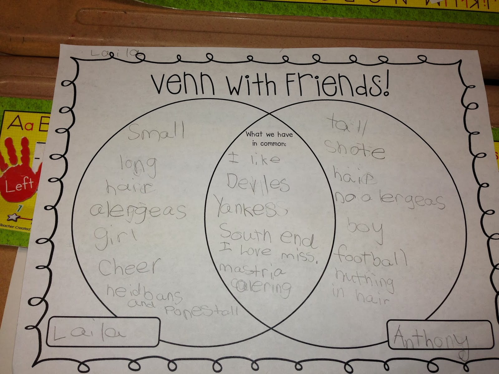thrills and frills in first  comparing and contrasting