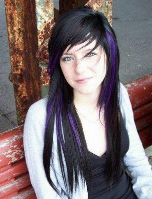 long straight emo hairstyles