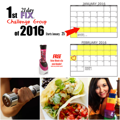 Join our next beginners guide to 21 Day Fix challenge group and get a free Oster mini blender! Starts January 25
