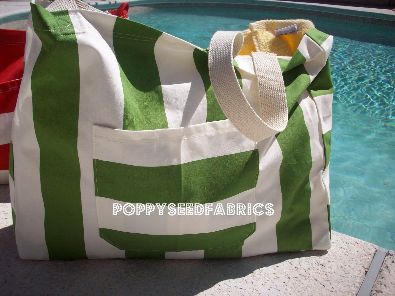 POPPYSEED FABRICS: Weekend beach bag