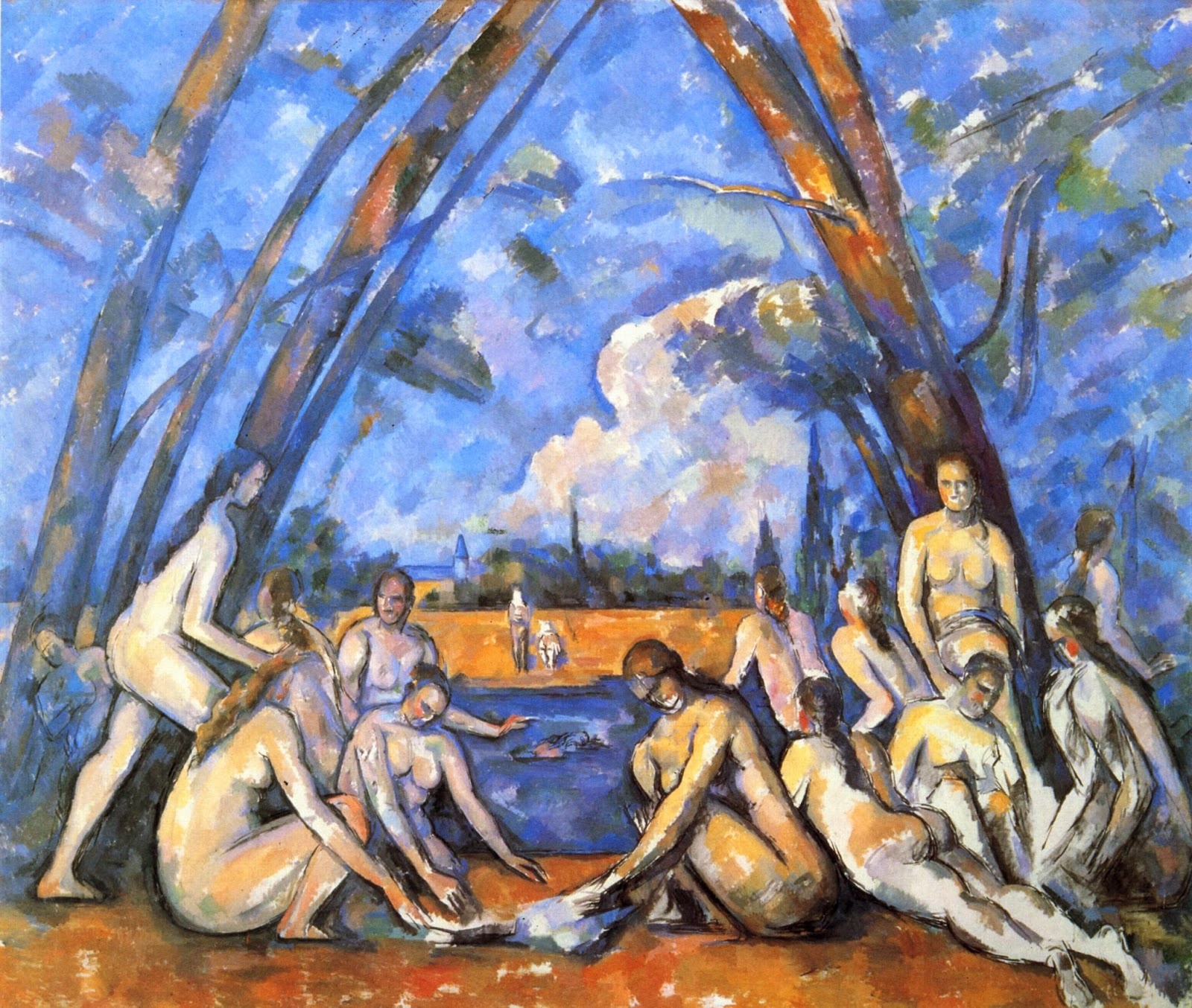 "Picture of ""The Large Bathers"" by Paul Cezanne, 1905"