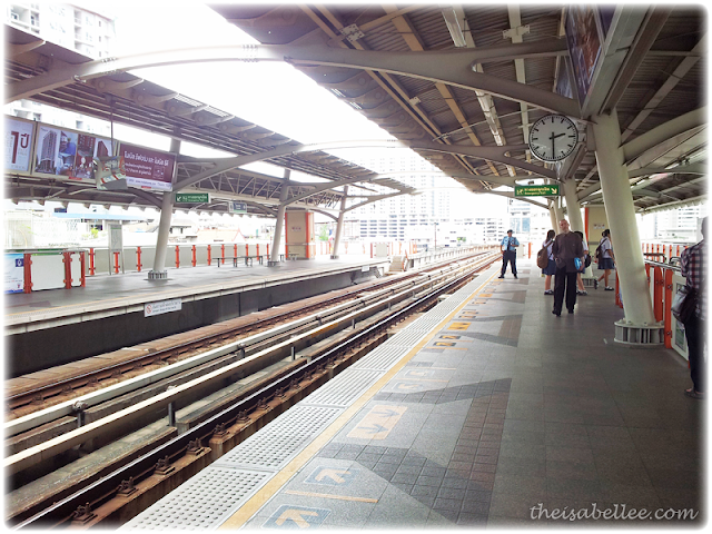 BTS sky train in Bangkok Thailand
