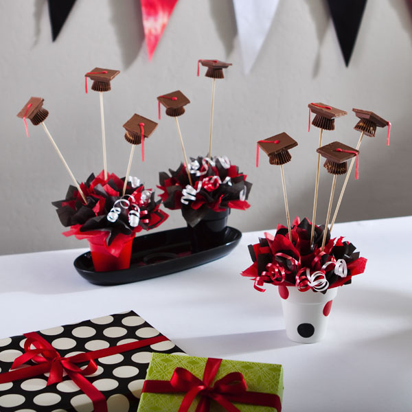 Graduation Candy Centerpieces : Get wacky and crafty with pattiewack chocolate