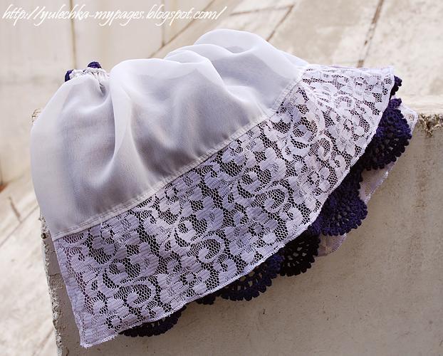 Подклад под вязаную юбку