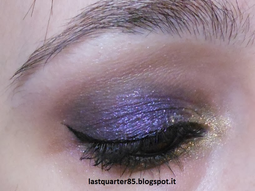Make up viola e oro per l'ultimo dell'anno!
