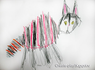 рисунок суровый кот
