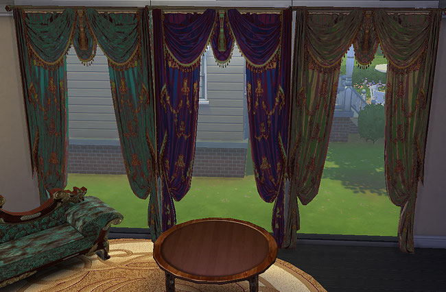 My Sims 4 Blog: Curtains by AmaSims - Free