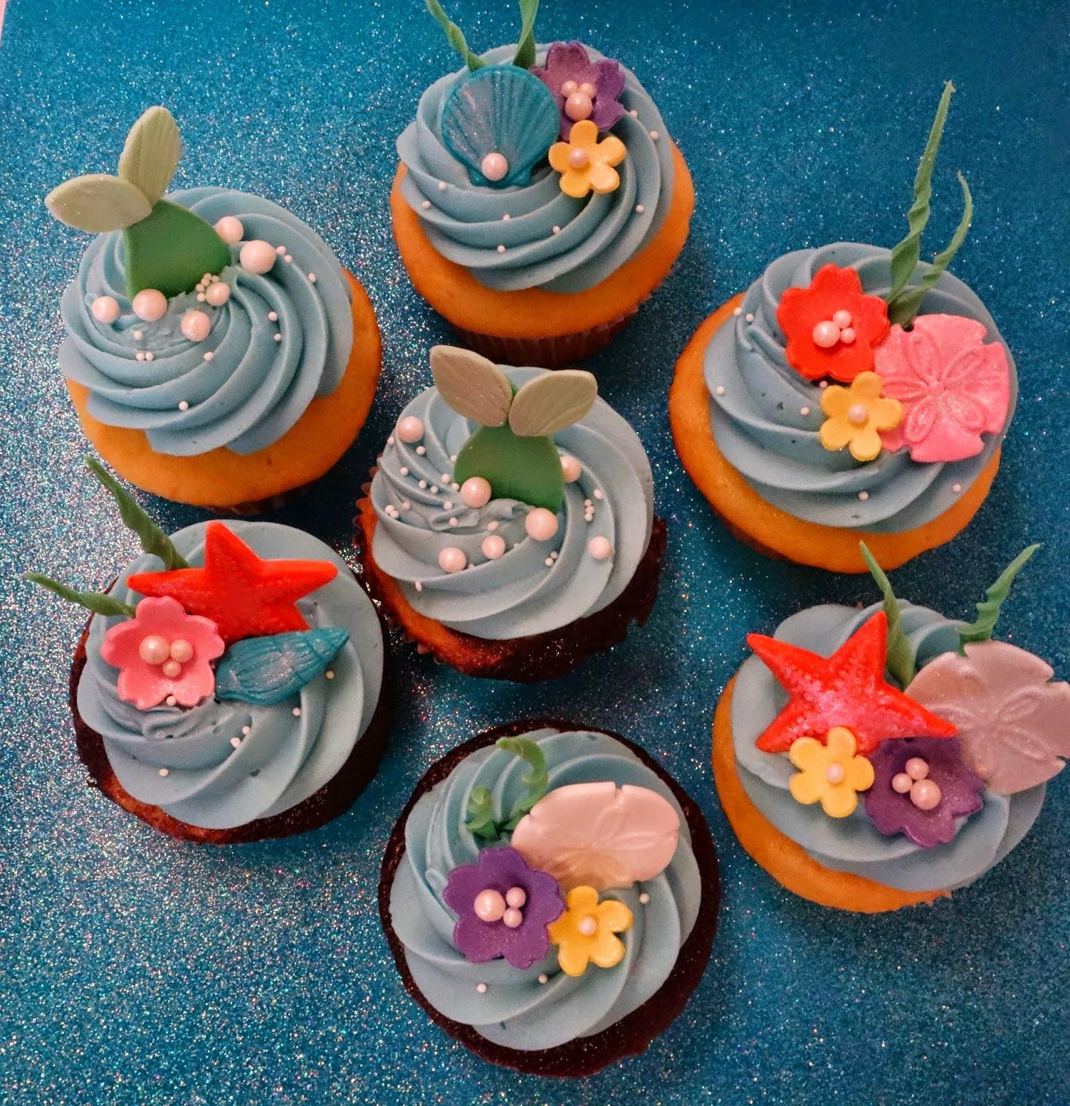 Cupcake Decorating Ideas Under The Sea : Little Mermaid Under The Sea Cupcakes