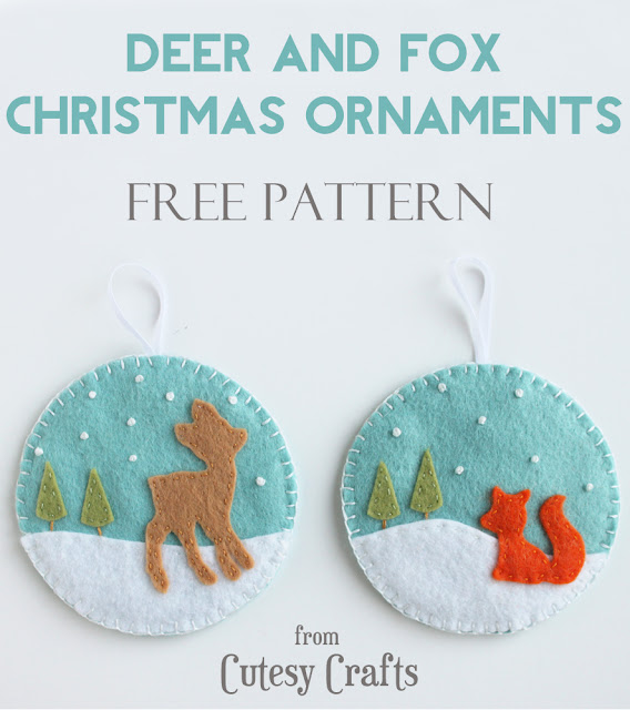 http://www.cutesycrafts.com/2013/12/felt-deer-and-fox-christmas-ornaments.html