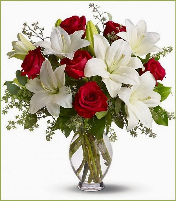 lily flower arrangement is so beautiful  father flower arrangement, Natural flower