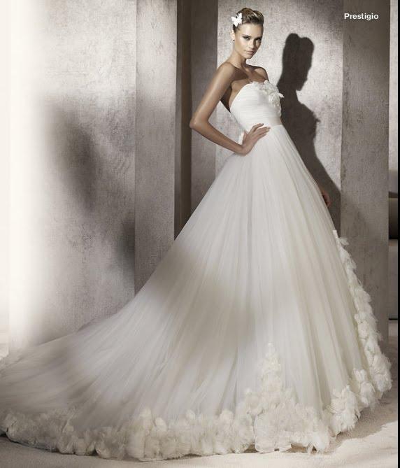 todo sobre bodas: vestido de novia prestigio pronovias 2012 manuel mota