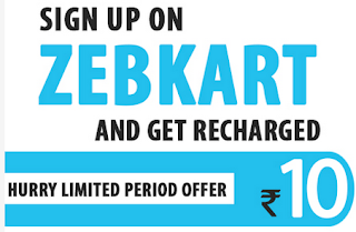 Sign Up at Zebkart and get free Rs.10 mobile recharge : BuyToEarn