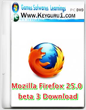 Mozilla Firefox 25.0 beta 3