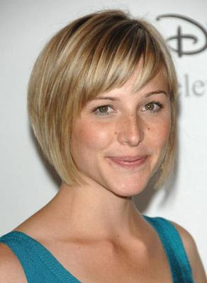 shorter hair styles with bangs
