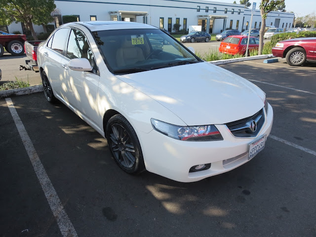 Acura TSX painted Championship White from Almost Everything Auto Body