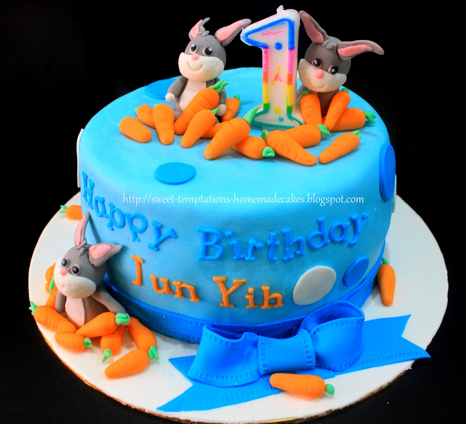 Cake For 1 Year Old Boy Pinterest : Sweet Temptations Homemade Cakes & Pastry: Bunny Cake for ...
