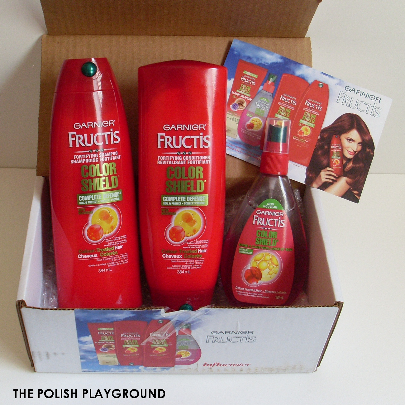 Influenster Garnier Fructis Color Shield Unboxing + First Impressions #ColorShield
