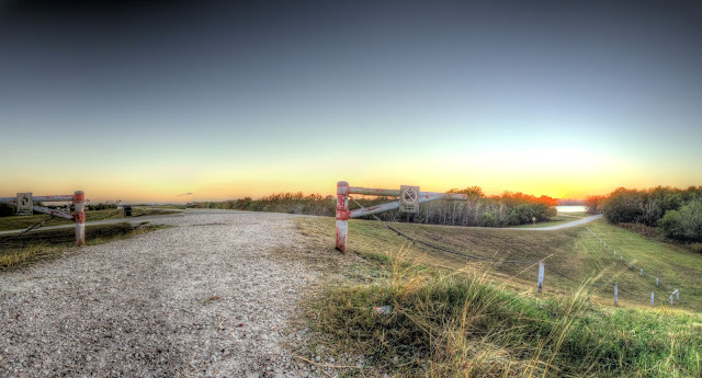No motor vehicles - George Bush park - Sunset - Houston Texas - HDR - Panoramic