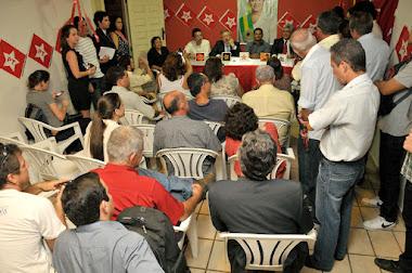 Filiados recepcionam Dep. Federal Marco Maia PT/RS e Presidente Câmara dos Deputados