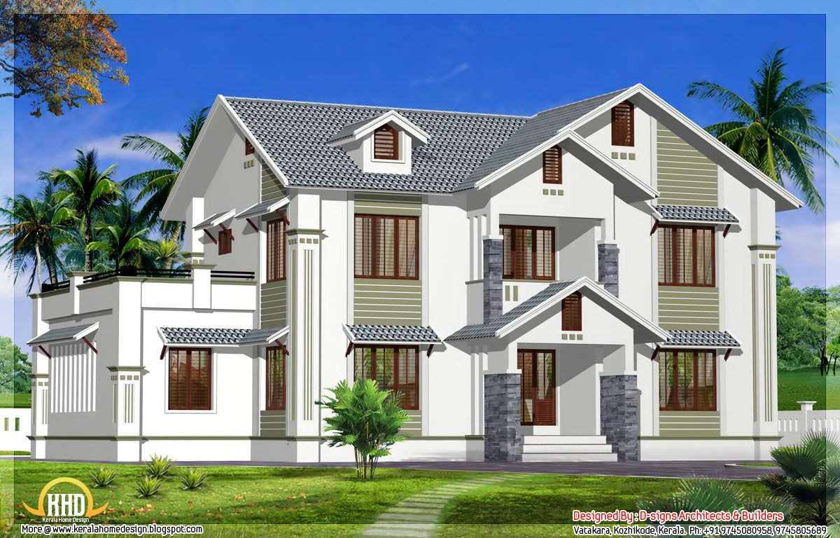 May 2012 kerala home design and floor plans for 2 story house floor plans and elevations