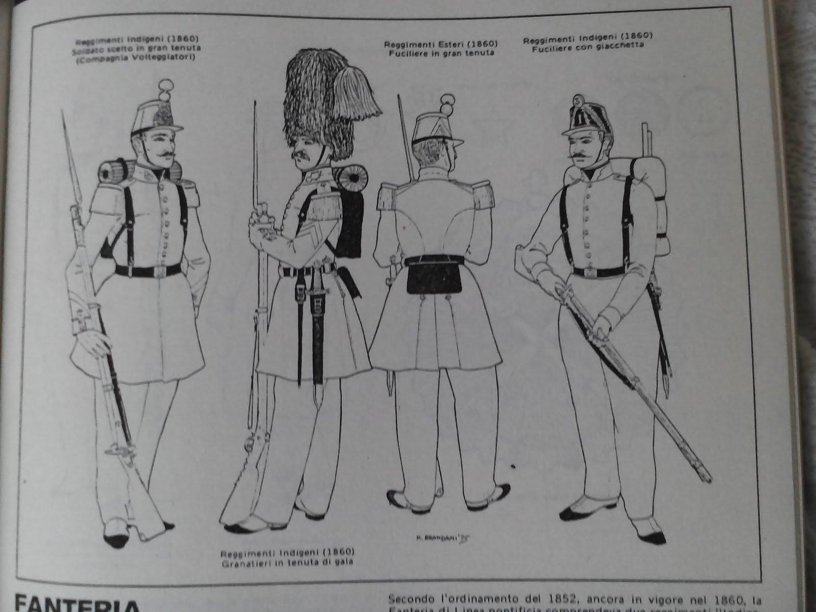 Ricerca Esercito Pontificio 1860.