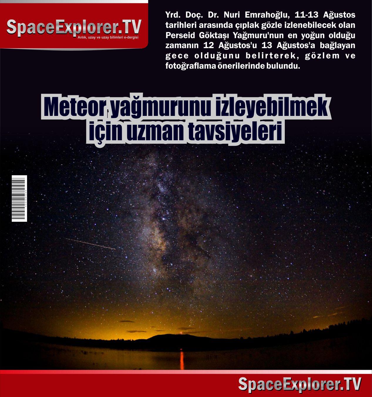 Meteorlar, Meteor yağmurları, TÜBİTAK, Space Explorer,
