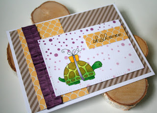 Birthday Card for a Guy featuring the turtle from Newton's Nook Designs In Slow Motion