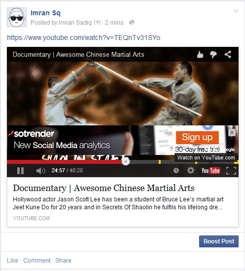 In-Video AdWords Banner Ads on Facebook