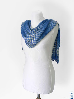 machine knitting passap bamboo scarf shawl wrap tuck stitch