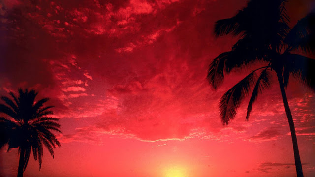 South Pacific Red Sunset