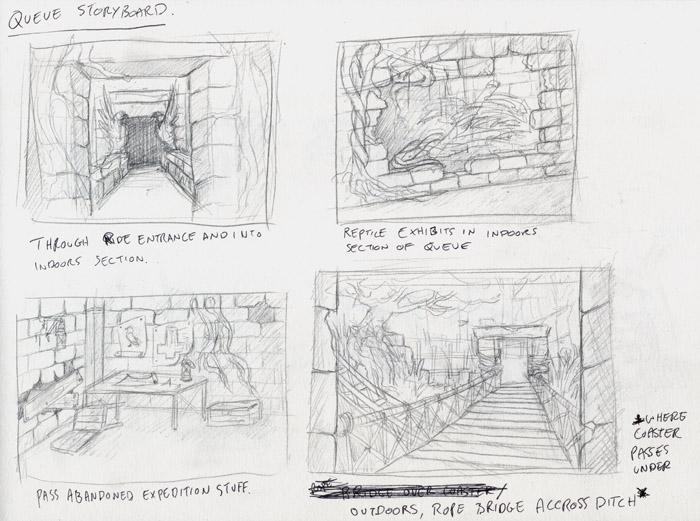HAJiME's Sketchbook - theme park attraction design