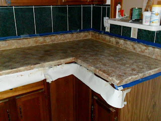 Rustoleum Countertop Paint On Formica : quiltanddagger: Faux granite - Painting formica countertops