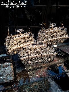 patricia fields, bags, clutch bag, diamond, pearls,pearl,black,white,