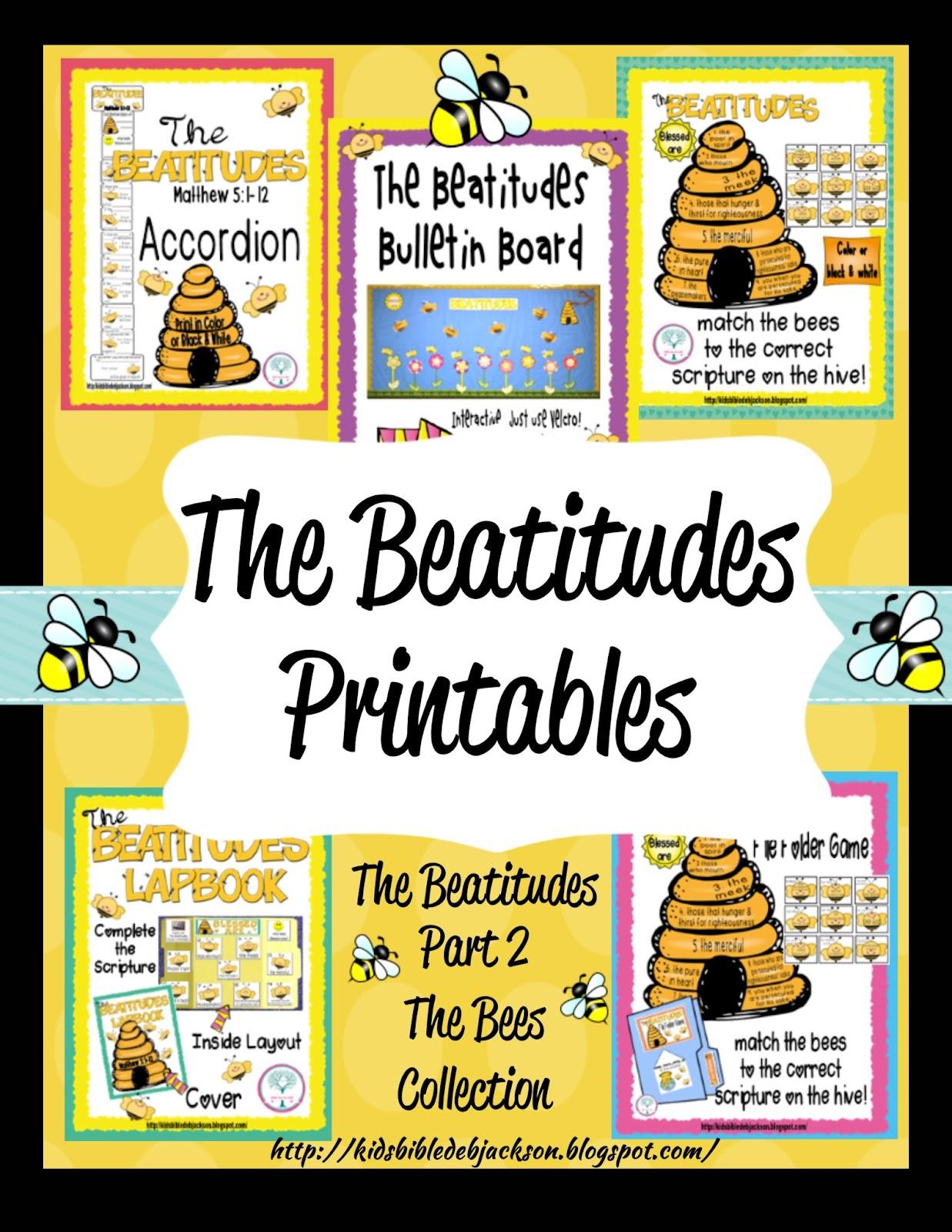 The Beatitudes Bee Attitudes Bulletin Board More