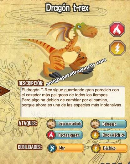 imagen de todas las estadisticas del dragon t-rex antes