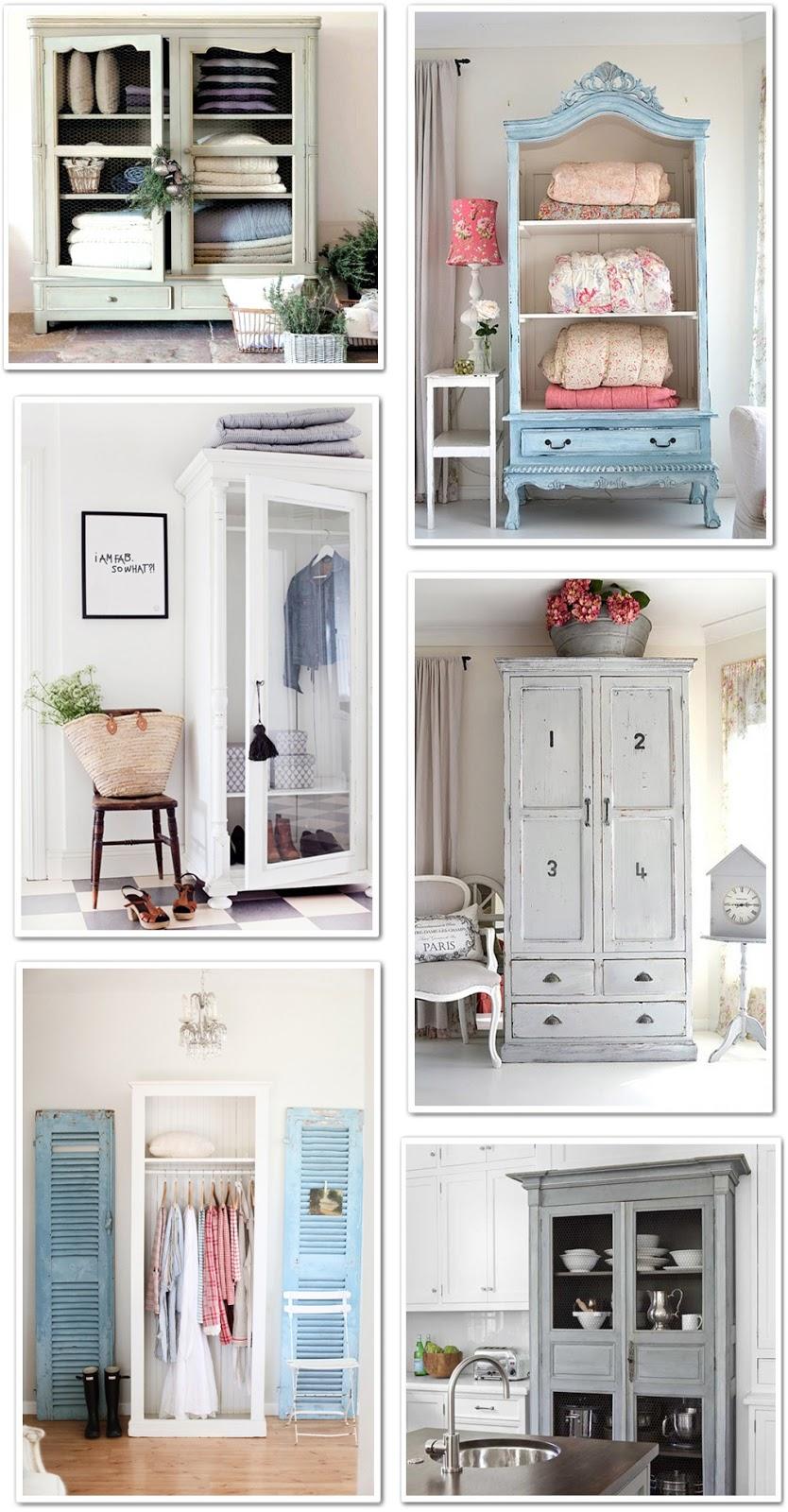 Un armadio da trasformare shabby chic interiors - Decorare un armadio ...