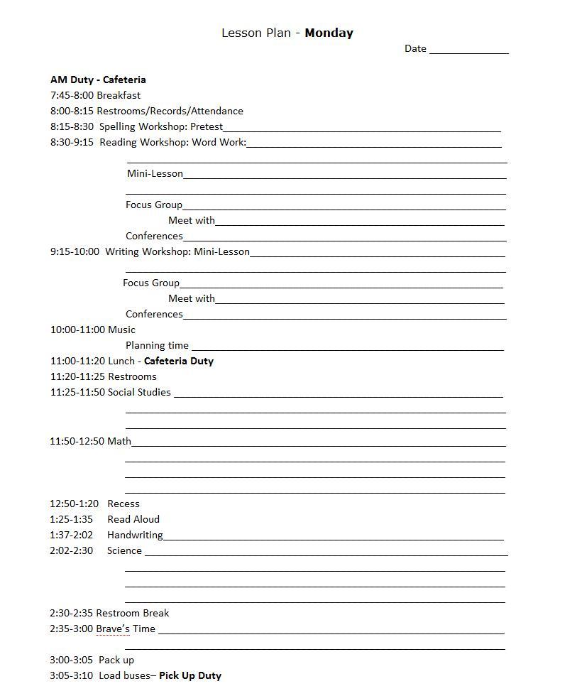 the real teachr creating a lesson plan book thursday 21 2012