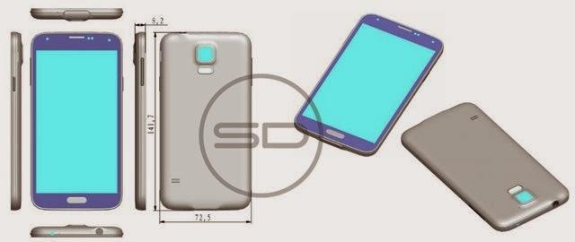 Vazam modelos 3D renderizados do S5
