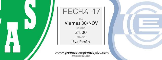 Fecha 17: Sarmiento de Junin vs. Gimnasia de Jujuy