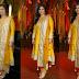 Vidya Balan Mustard Silk Churidar